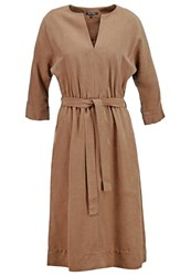 Marc O'polo Summer Dress Dark Teak Brown