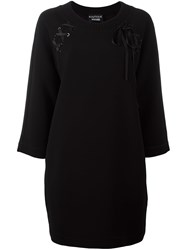Boutique Moschino Lace Detail Jumper Dress Black
