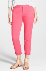 Caslon Chino Ankle Pants Regular And Petite Pink Caliente