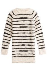 Zadig And Voltaire Striped Pullover With Wool Alpaca Stripes