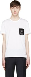 Burberry White Lace Pocket T Shirt