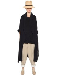 Y's Washed Cotton Voile Light Coat