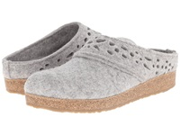 Haflinger Lacey Silver Grey Women's Slippers Gray