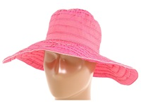 San Diego Hat Company Rbl4770 Crushable Ribbon Floppy Sun Hat Fuchsia Knit Hats Pink