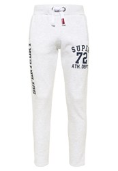 Superdry Trackster Non Cuffed Joggers Light Grey Marl
