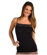 Hanro Moments Spaghetti Camisole Black Women's Sleeveless