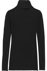 Enza Costa Cashmere Turtleneck Sweater Black