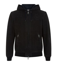 Armani Jeans Hooded Suede Jacket