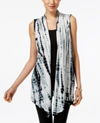 Styleandco. Style And Co. Tie Dyed Open Front Vest Only At Macy's Black Combo