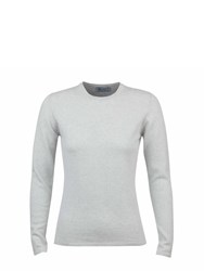 Johnstons Of Elgin Cashmere Round Neck Sweater Grey