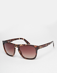 Selected Folding Wayfarer Sunglasses Brown