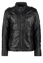 Mustang Joffre Leather Jacket Black