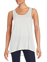 August Silk Side Lace Tank Top Rainy Day