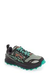 Altra Women's 'Lone Peak 3.0 Low' Polartec Neoshell Waterproof Running Shoe Black Mint
