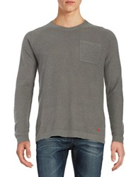 Strellson Chest Pocket Sweater Medium Grey