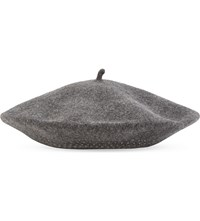 William Sharp Swarovski Crystal Wool Beret Dark Grey