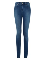 Barbour International Thruxton High Waist Super Skinny Jeans Powder Blue