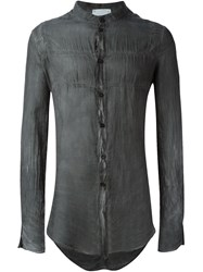 Lost And Found Rooms Creased Sheer Shirt Grey