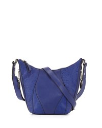 French Connection Ollie Faux Leather Crossbody Bag Monarch Blue
