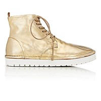Marsell Women's Lace Up Ankle Boots Gold