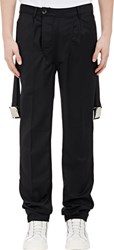 Hood By Air Belt Strap Twill Trousers Black