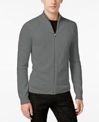 Inc International Concepts Men's In The Dark Full Zip Sweater Only At Macy's Heather Grey