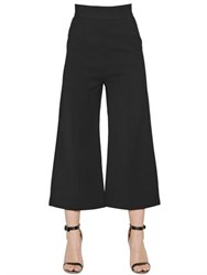 Self Portrait Wide Leg Double Crepe Cropped Pants