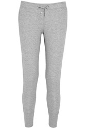 Zoe Karssen Cotton Blend Jersey Track Pants Gray