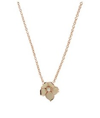 Shaun Leane Diamond Cherry Blossom Pendant Necklace Silver