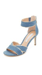 Diane Von Furstenberg Ragusa Sandals Denim Blue
