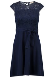 Dorothy Perkins Petite Billie Blossom Summer Dress Navy Blue Dark Blue