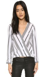 Cupcakes And Cashmere Escher Striped Blouse White