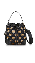 Moschino Printed Quilted Nylon Bucket Bag Color