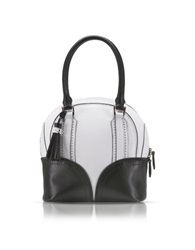 Pineider 1774 Limited Edition Mini Bowling Leather Bag Black White