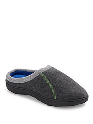 Totes Fabric Trimmed Slipper Dark Charcoal