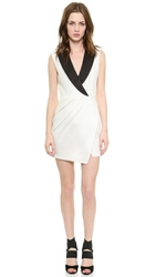 Self Portrait Sculpted Tuxedo Dress Ivory