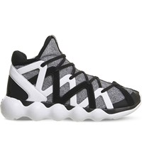 Adidas Y3 Kyujo High Top Neoprene Trainers White Black Knit