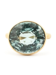 Marie Helene De Taillac Green Tourmaline Ring Metallic