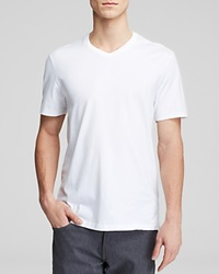 The Men's Store At Bloomingdale's Pima Cotton V Neck Tee White