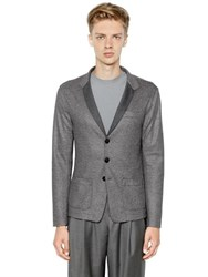 Giorgio Armani Bonded Jersey And Textured Jersey Jacket
