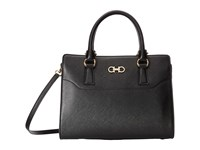 Salvatore Ferragamo 21F317 Beky Nero Satchel Handbags Black
