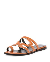 Pierre Hardy Kaliste Leather Toe Ring Flat Sandal Tan Gold