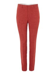 Chester Barrie Elverton Plain Linen Trouser Red
