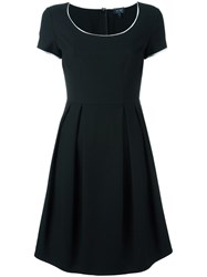 Armani Jeans Contrast Trim Dress Black