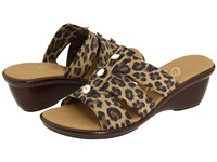 Onex Miley Brown Leopard Women's Slide Shoes Animal Print