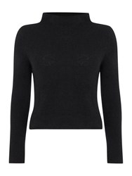 Sarah Pacini Fitted Sweater With Mock Neck Black