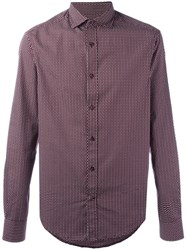 Armani Jeans Patterned Shirt Red
