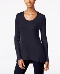 Styleandco. Style Co. Long Sleeve Scoop Neck Sweater Only At Macy's Dark Grape