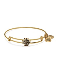 Alex And Ani Four Leaf Clover Slider Expandable Wire Bangle Rafaelian Gold