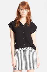Marc By Marc Jacobs 'Square' Button Front Shirt Black
